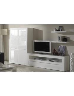 Muebles modernos para salón con mesa t.v. y módulo puertas.