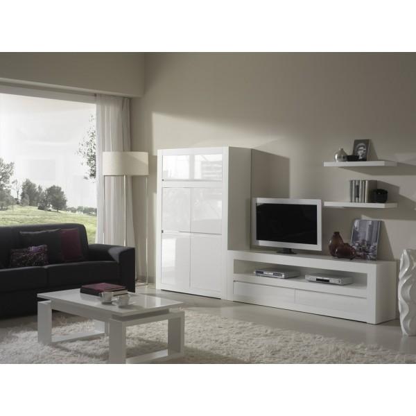 Muebles modernos para sal n con mesa t v y m dulo puertas for Muebles por modulos para salon