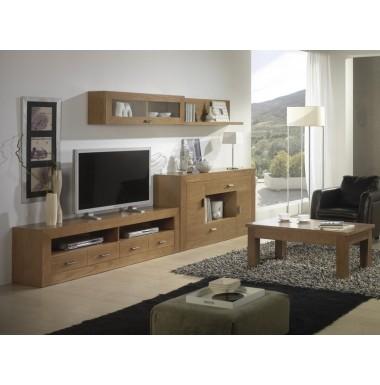 Muebles contempor neos para sal n de madera - Muebles madera salon ...