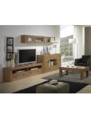 Muebles contemporáneos para salón de madera.