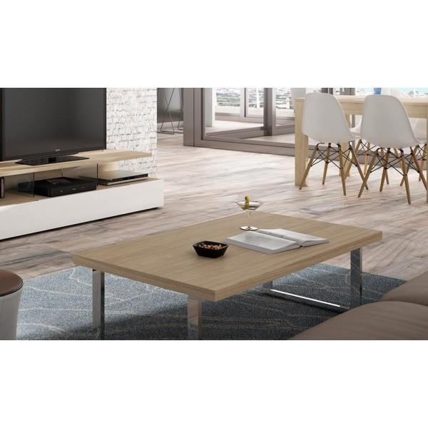 Mesa rectangular acero moderna for Patas para mesa de centro