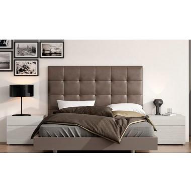 9658f1c323c7c Cabecero tapizado en piel sintetica blanco o marrón para cama de matrimonio.