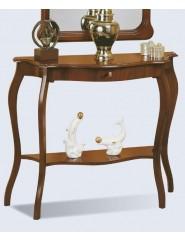 Consola de recibidor clásica con un cajón en cerezo, nogal o lacado blanco.