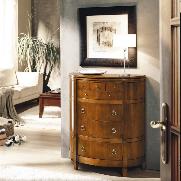 C moda cl sica peque a para entrada de madera de cerezo - Muebles comodas clasicas ...