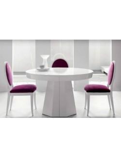 Mesa madera de comedor o despacho metropol extensible for Mesa redonda extensible blanca
