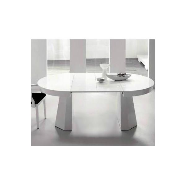 Mesa de comedor en madera de haya redonda y extensible - Mesa de cocina redonda extensible ...