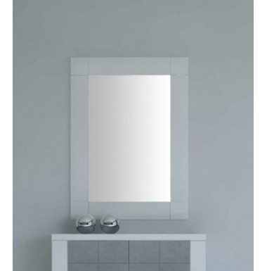 Espejo rect ngular con marco de madera for Espejos con marco de madera blanco