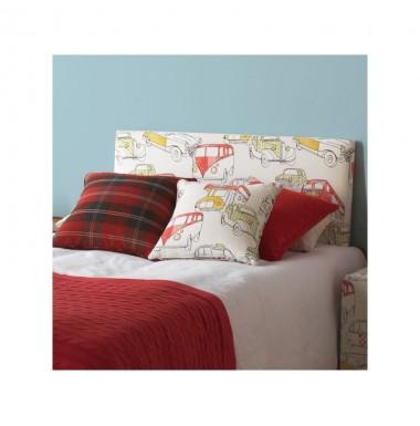 Cabecero infantil tapizado en distintos estampados para cama de 90 y de 120 cm.