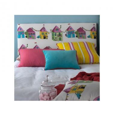 Cabezal alto infantil juvenil tapizado en distintas - Telas para forrar cabecero cama ...