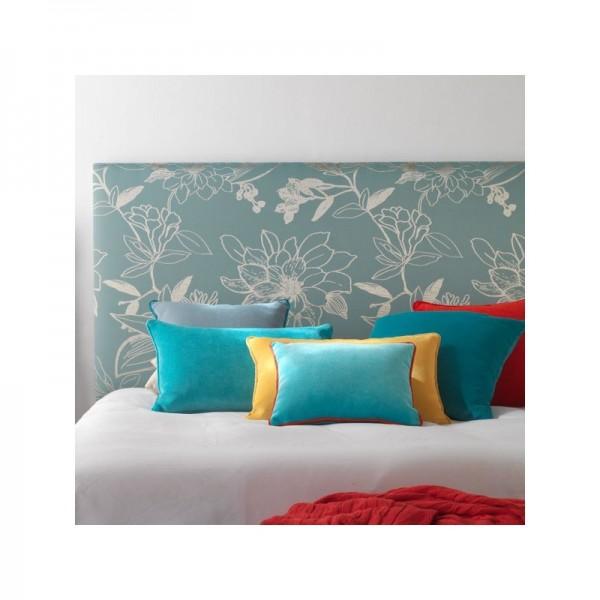 Cabezal de matrimonio para cama de 150 cm tapizado en tela a elegir - Tapizar cabezal cama ...