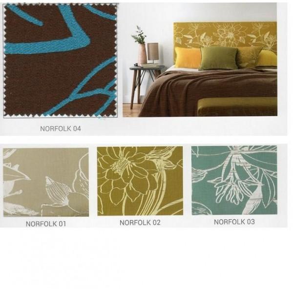 Cabezal de matrimonio para cama de 150 cm tapizado en tela a elegir - Telas para cabeceros de cama ...