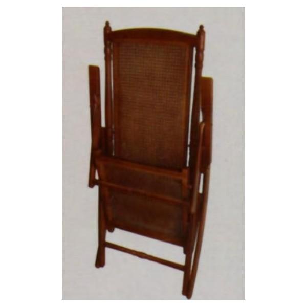 Mecedora plegable de madera de haya lacada en blanco o for Mecedora de madera