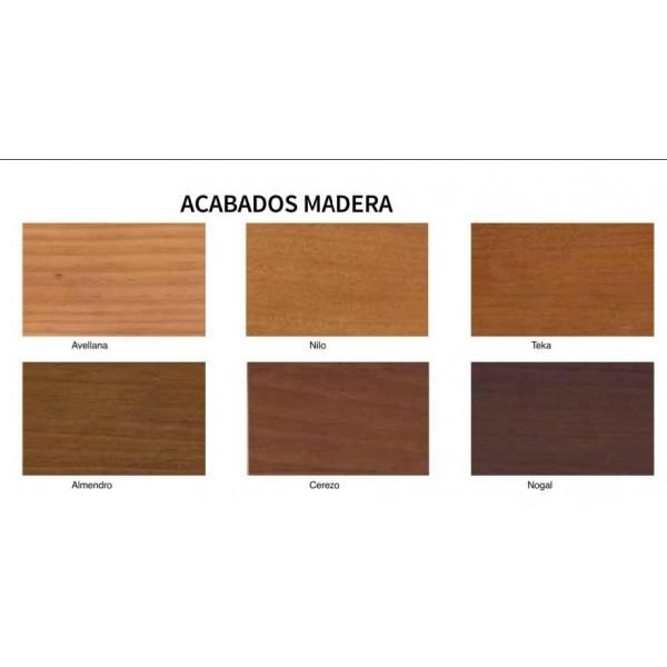 Mesilla de dormitorio de madera y forja disponible en - Mesillas de madera ...