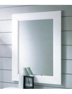 espejo rectangular con marco de madera