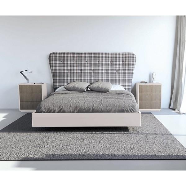 Cabecero de cama de matrimonio tapizado con botones capitone - Cabeceros de cama de matrimonio ...