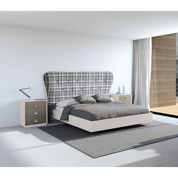 Cabecero de cama de matrimonio tapizado con botones capitone - Cabeceros tapizados capitone ...