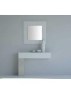 Mueble de recibidor moderno de madera lacada para colgar en la pared.