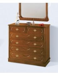 Comoda clásica de madera en cerezo, nogal, caoba o blanco.