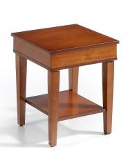Mesa de centro cuadrada auxiliar pequeña de madera.