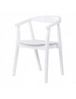 Silla asiento de madera  para comedor o cocina color blanco, negro, gris, menta o nogal.
