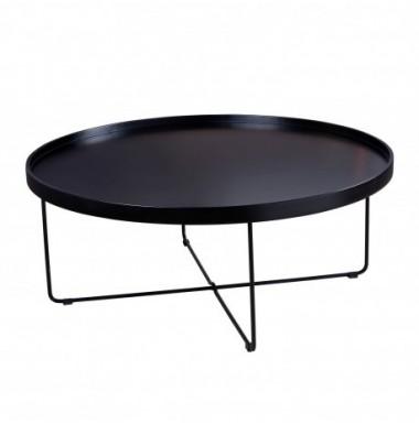Mesa de centro moderna en blanco o negro diseño bandeja redonda grande.