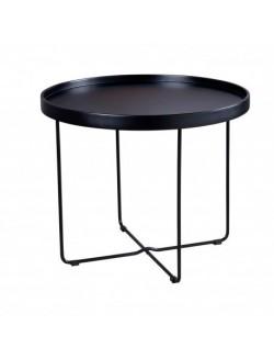 Mesa de centro moderna en blanco o negro diseño bandeja redonda pequeña.