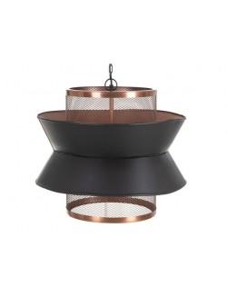 Lámpara de techo de diseño moderna color negro y cobre.