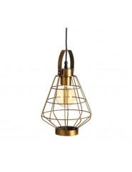 Lámpara de techo de estilo industrial hierro acabado oro.