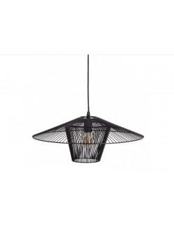 Lámpara de techo moderna de hierro color negro.