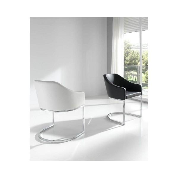 Sill n tur n moderno tapizado en ecopiel con estructura en for Tapizados modernos para sillas