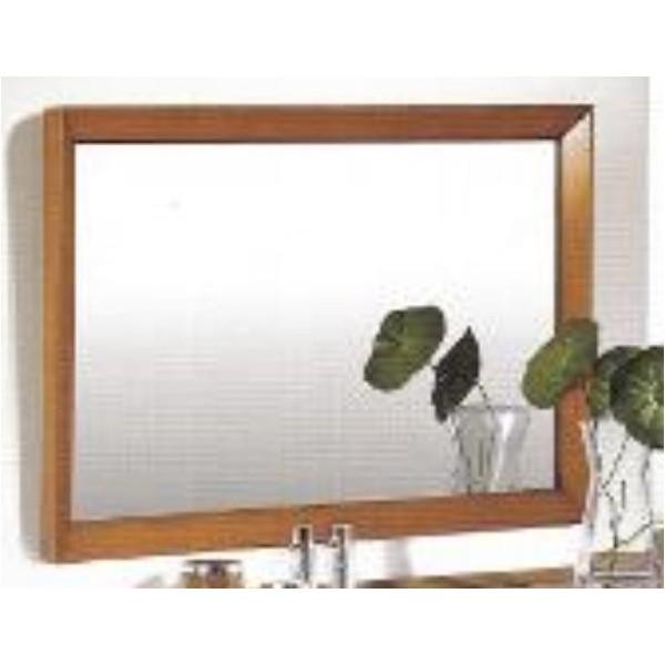Espejo rectangular con marco en madera de cerezo y luna for Espejos redondos con marco de madera