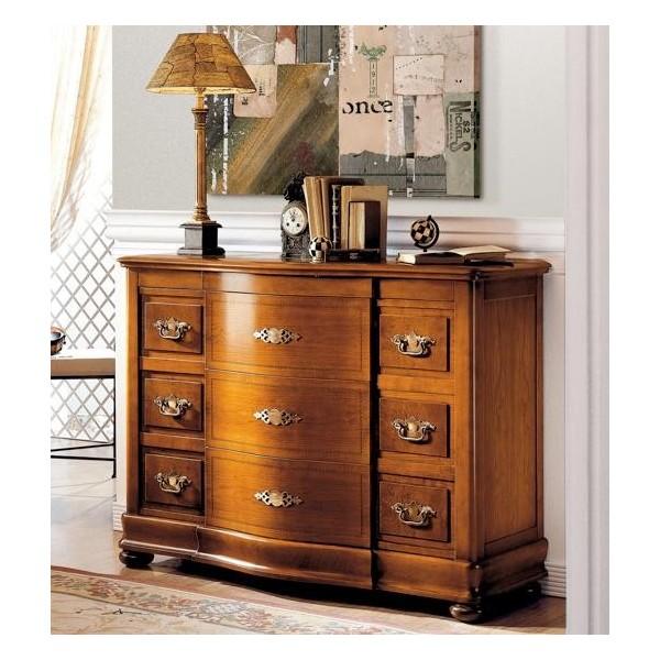 C moda cl sica en madera de cerezo con cuatro cajones - Muebles comodas clasicas ...