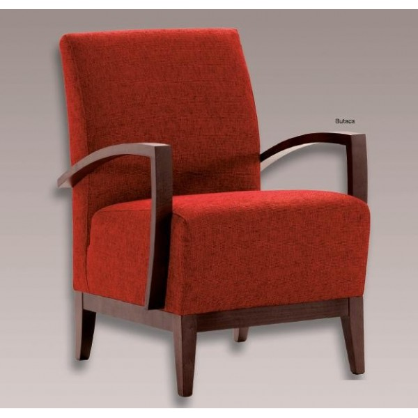 Butaca auxiliar tapizada en tela o ecopiel con los brazos - Sillones y butacas de diseno ...