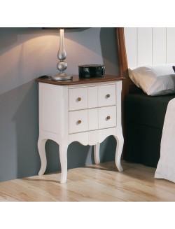 Conjunto de muebles de dormitorio vintage de madera de - Mesillas de noche clasicas ...