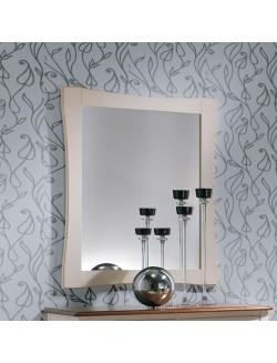 Marco en madera de haya maciza con espejo.