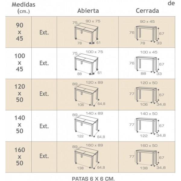 Mesa Del Comedor Moderna De Vidrio - Dimensiones Mesa Comedor - Doxwo.co