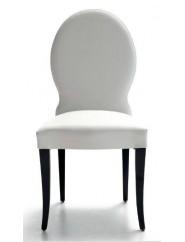 Silla respaldo tachas madera de haya con asiento y respaldo tapizados en tela o ecopiel.