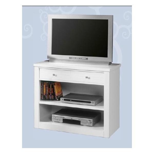 Mesa de televisi n con un caj n y un estante - Estante con cajon ...