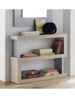 Librero-consola lacado.