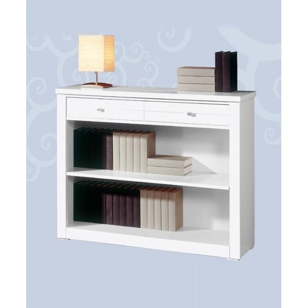 Mueble librero bajo con un caj n - Mueble bajo salon ...