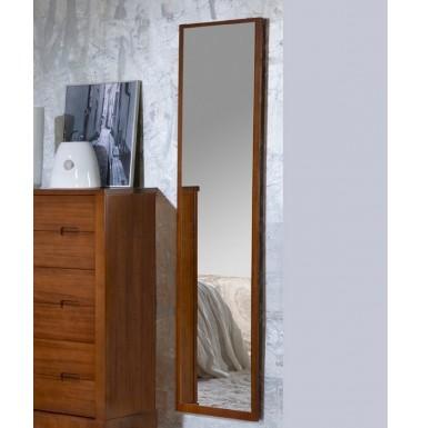 Espejo vestidor con marco de madera for Espejos con marco de madera blanco