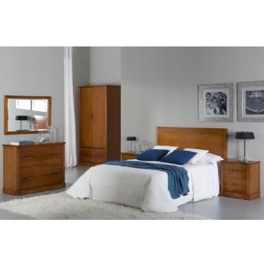 Dormitorio cerezo con cabecero para cama de 150 cm dos - Cabeceros de cama con fotos ...