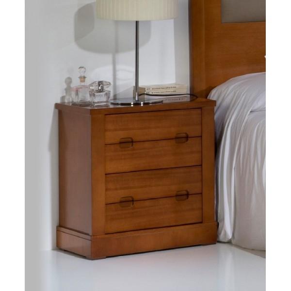 Dormitorio cerezo con cabecero para cama de 150 cm dos for Comoda matrimonio