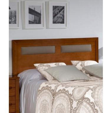 Cabecero de madera con detalle de polipiel para cama de matrimonio o ...