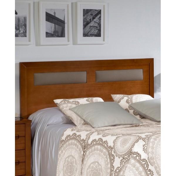 Cabecero de madera con detalle de polipiel para cama de matrimonio o individual - Cabeceros para camas ...