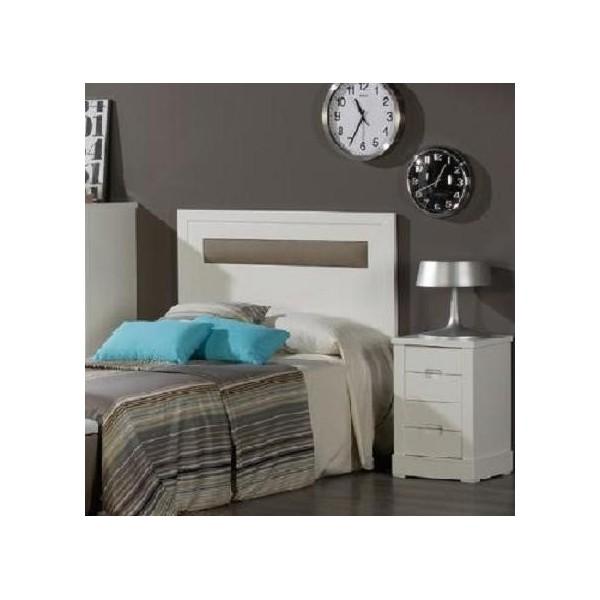 Cabecero de madera con detalle de polipiel para cama de - Cabeceros de cama polipiel ...
