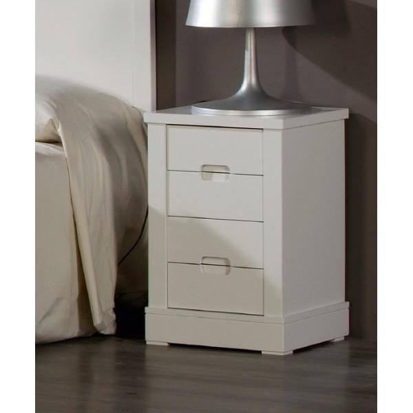 Dormitorio juvenil lacado en blanco con cabecero tapizado - Cabeceros en blanco ...