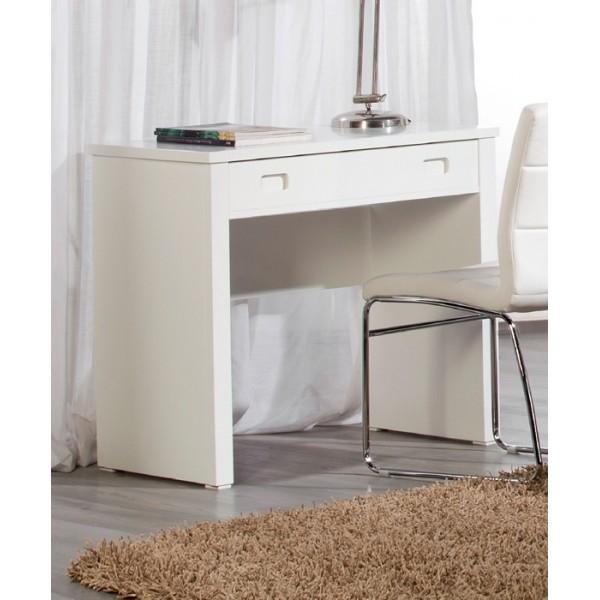 Escritorio juvenil blanco escritorio juvenil riga con cajones blanco y madera compuesto por - Escritorio juvenil blanco ...