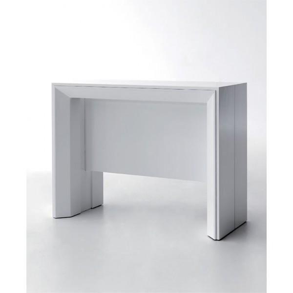 Consola extensible convertible en mesa de comedor grande - Comoda mesa extensible ...