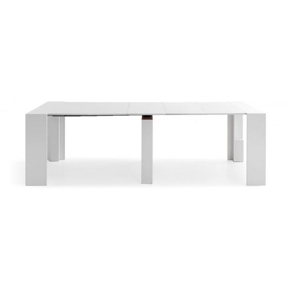 Consola extensible convertible en mesa de comedor grande - Mesa de comedor grande ...
